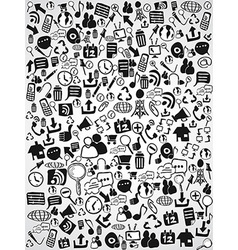 doodle web icon background vector image vector image
