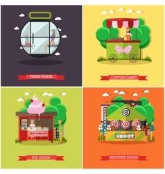 set of amusement park concept posters vector image vector image