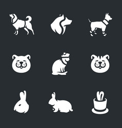 set of animals and pets icons vector image
