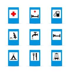 set of european information road signs vector image vector image