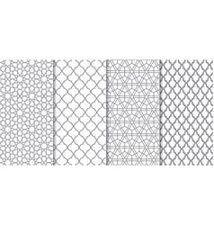set of traditional arabian pattern vector image