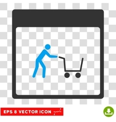 Shopping Cart Calendar Page Eps Icon vector image