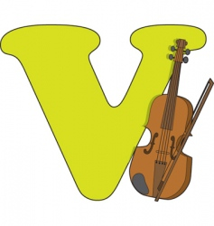 v is for violin vector image vector image