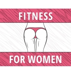 Fitness woman banner vector image vector image