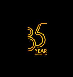 35 year anniversary celebration template design vector