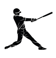 A baseball player silhouette vector