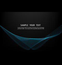 abstract smooth wave with dots vector image