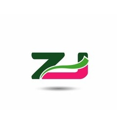 Alphabet Z and J letter logo vector image