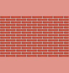 Ancient red brick wall texture vector
