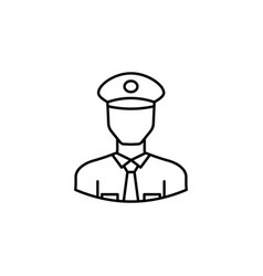 avatar policeman outline icon signs and symbols vector image
