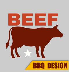 Bbq beef logo image vector