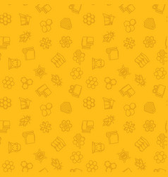 Beekeeping yellow seamless pattern vector