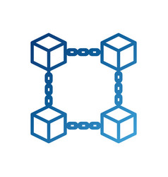Block chain business technology concept digital vector