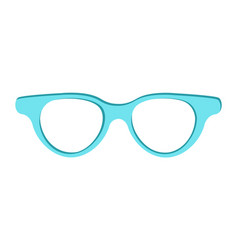 blue sunglasses icon isolated vector image
