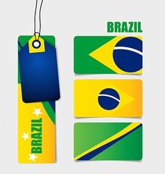Brazil Flags concept design vector