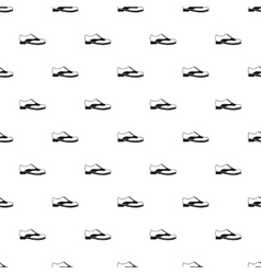 Brogue shoe pattern simple style vector image