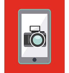 camera app design vector image