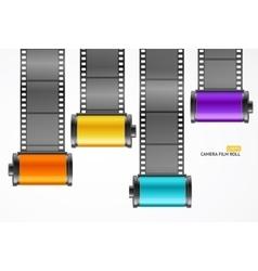 Camera film roll cartridge set vector