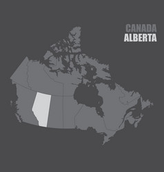 Canada alberta map vector