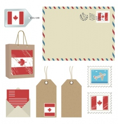canada postage vector image