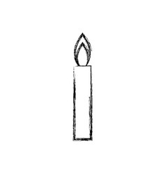 candle flame light abstract decoration icon vector image