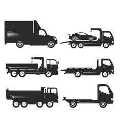 car icon truck vector image