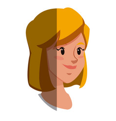 character face blonde girl smile lifestyle vector image