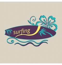 Colored surf lable vector