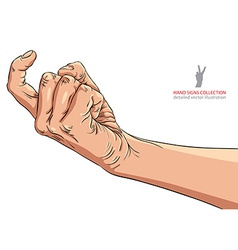 Come on hand sign detailed vector image