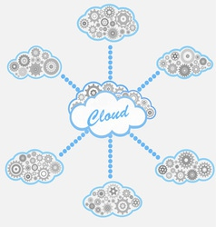 computer cloud service vector image