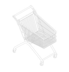 contour of the stroller for goods isometric view vector image