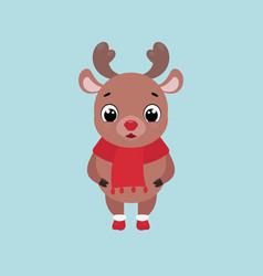 cute smiling deer vector image