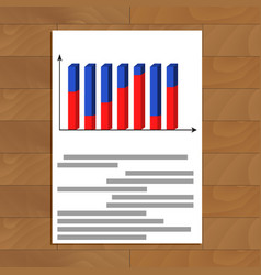 Document with 3d graphic vector