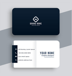 elegant simple black and white business card vector image