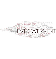 Empowerment word cloud concept vector