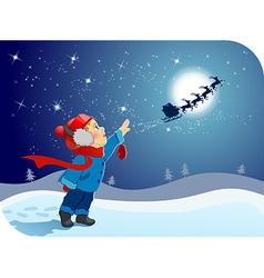 Farewell to Santa vector