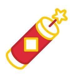 Firecracker linecolor vector
