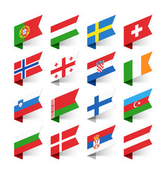 flags world europe set 2 vector image