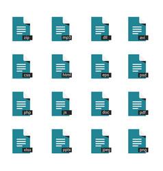 Formats icon set vector