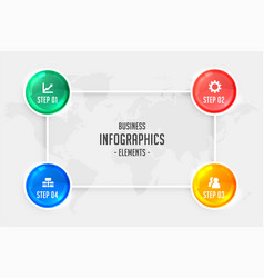 Four steps infographic for business presentation vector