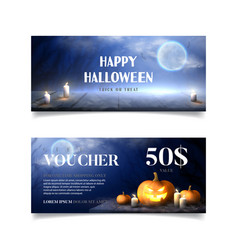 gift voucher for halloween sale vector image