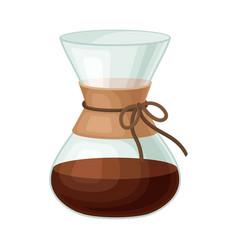 glass kettle for making tea vector image