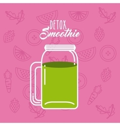 Green Detox icon Smoothie and Juice design vector image