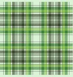 Green ireland check plaid fabric seamless pattern vector