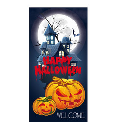 halloween invitation flyer for a party vector image