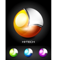 Hi-tech 3d sphere icon vector image