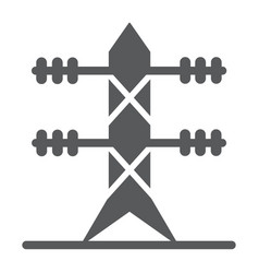 High voltage line glyph icon energy and electric vector