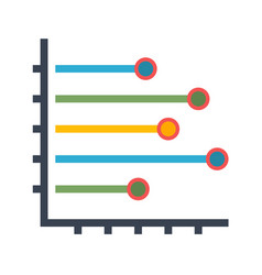 Histogram flat icon vector
