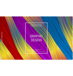 Holographic geometric background colorful striped vector