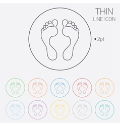 Human footprint sign icon Barefoot symbol vector image